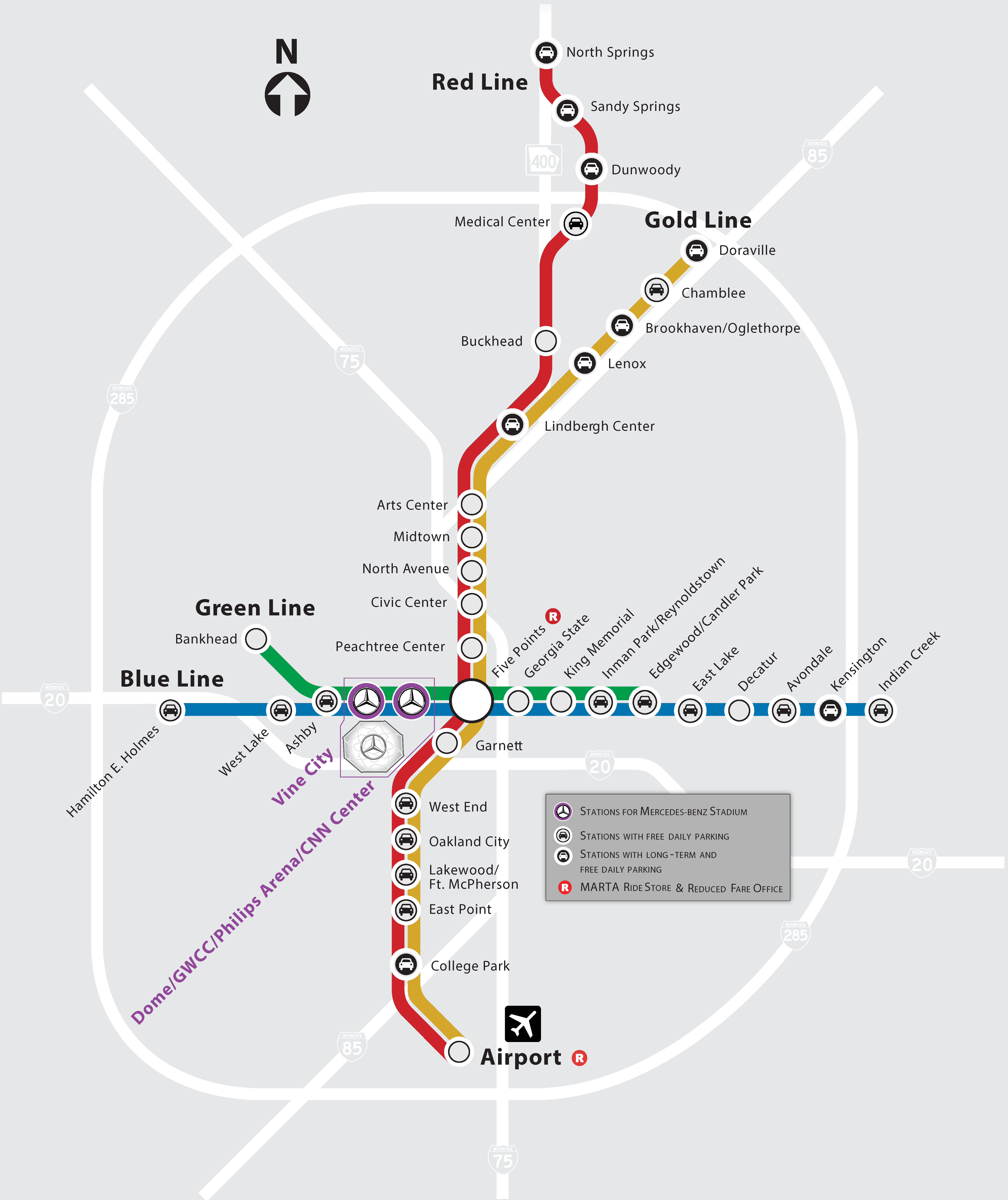 Marta Map Atlanta Public Transportation   Mercedes Benz Stadium Marta Map Atlanta