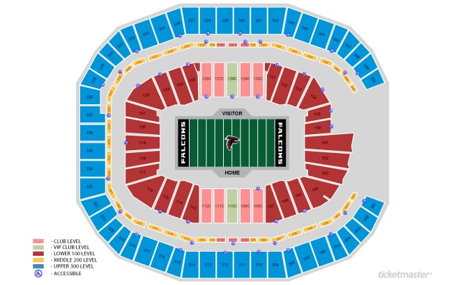 Atlanta Falcons Seating Chart Tickets